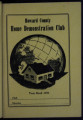 Extension Homemakers: Howard County Home Demonstration Club YEAR BOOK 1953